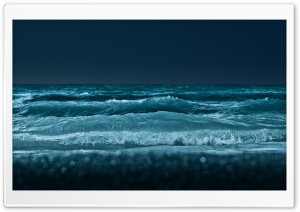 Sea At Night HD Wide Wallpaper for Widescreen