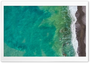 Sea, Beach, Italy, Aerial View HD Wide Wallpaper for 4K UHD Widescreen desktop & smartphone