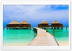 Sea Bungalows HD Wide Wallpaper for Widescreen