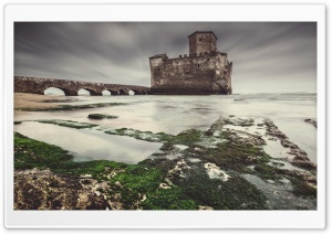 Sea Castle HD Wide Wallpaper for Widescreen