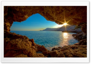 Sea Cave HD Wide Wallpaper for 4K UHD Widescreen desktop & smartphone