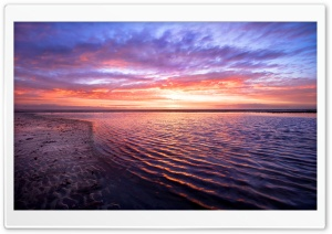 Sea Horizon, Sunset HD Wide Wallpaper for Widescreen