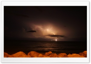Sea Lightning HD Wide Wallpaper for 4K UHD Widescreen desktop & smartphone