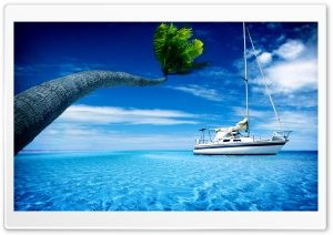 Sea, Ocean, Steamer, Island HD Wide Wallpaper for Widescreen