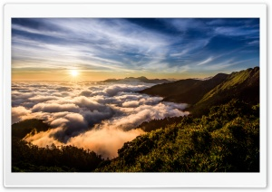 Sea of Clouds, Hehuanshan Mountain HD Wide Wallpaper for Widescreen