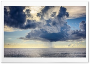Sea Rain HD Wide Wallpaper for Widescreen