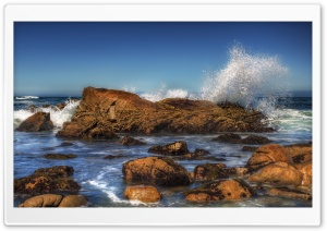 Sea Rocks HDR HD Wide Wallpaper for Widescreen