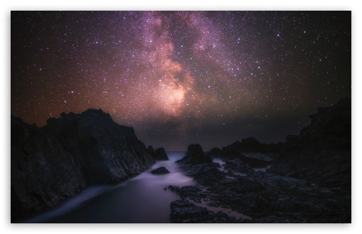 Sea Rocks Milky Way Galaxy Night Sky Ultra Hd Desktop Background Wallpaper For 4k Uhd Tv Widescreen Ultrawide Desktop Laptop Tablet Smartphone
