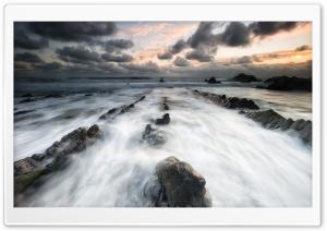 Sea, Rocks, Welcombe Mouth, North Devon, England Ultra HD Wallpaper for 4K UHD Widescreen desktop, tablet & smartphone