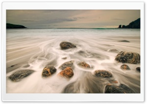 Sea Rushing Over Rocks HD Wide Wallpaper for Widescreen