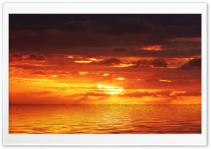 Sea Sunset HD Wide Wallpaper for Widescreen