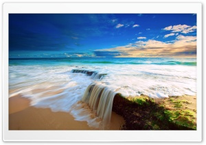 Sea Wave Waterfall HD Wide Wallpaper for Widescreen