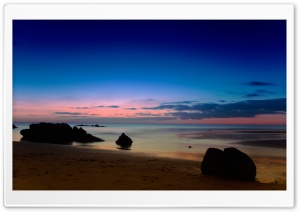 Seascape At Dusk HD Wide Wallpaper for 4K UHD Widescreen desktop & smartphone
