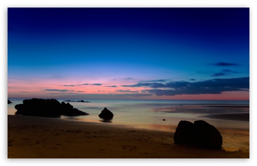 Download Seascape At Dusk UltraHD Wallpaper