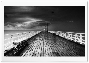 Seascape Black And White HD Wide Wallpaper for Widescreen
