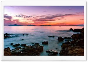 Seascape Sunset HD Wide Wallpaper for 4K UHD Widescreen desktop & smartphone