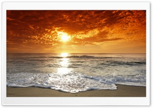 Seaside Sunset HD Wide Wallpaper for Widescreen