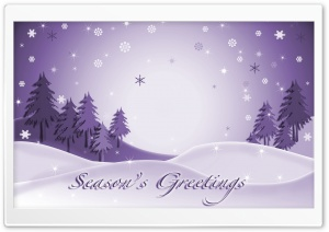 Season's Greetings Firs HD Wide Wallpaper for Widescreen