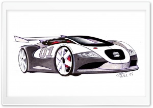 Seat Cupra GT Sketch HD Wide Wallpaper for Widescreen