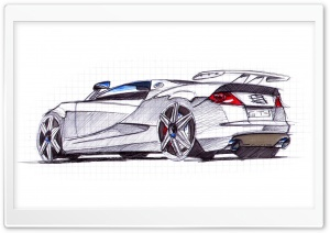 Seat Cupra GT Sketch 1 HD Wide Wallpaper for Widescreen