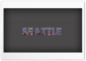 Seattle Minimalist HD Wide Wallpaper for Widescreen