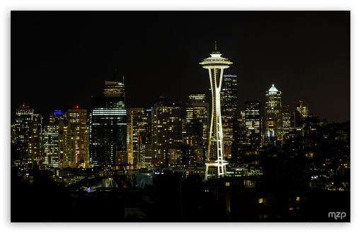 Seattle Night Ultra Hd Desktop Background Wallpaper For 4k