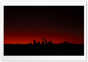 Seattle Sunset HD Wide Wallpaper for Widescreen