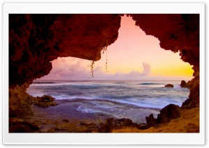 Secret Cave, Kauai, Hawaii HD Wide Wallpaper for Widescreen