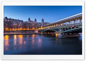 Seine river, Pont de Bir Hakeim, Paris, France Ultra HD Wallpaper for 4K UHD Widescreen desktop, tablet & smartphone