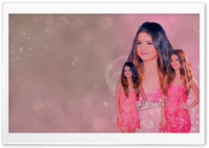 Selena Gomez 2012 Pink Dress HD Wide Wallpaper for Widescreen