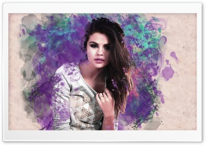 Selena Gomez Colorful HD Wide Wallpaper for Widescreen