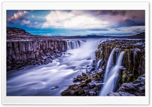 Selfoss Waterfall, Iceland HD Wide Wallpaper for Widescreen