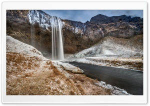 Seljalandsfoss Waterfall, Iceland HD Wide Wallpaper for 4K UHD Widescreen desktop & smartphone
