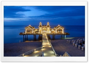 Sellin Pier HD Wide Wallpaper for Widescreen