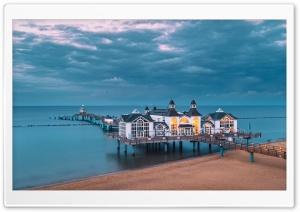 Sellin Pier, Baltic Sea, island of Rugen, Germany Ultra HD Wallpaper for 4K UHD Widescreen desktop, tablet & smartphone