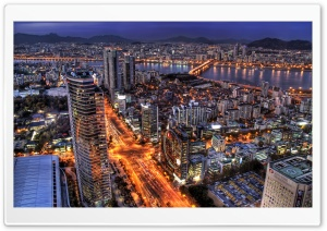 Seoul At Night, South Korea HD Wide Wallpaper for Widescreen