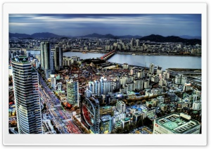 Seoul Panorama, South Korea HD Wide Wallpaper for Widescreen