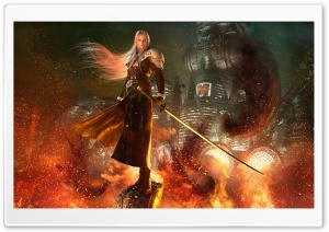 Sephiroth Final Fantasy VII Remake video game 2020 Ultra HD Wallpaper for 4K UHD Widescreen desktop, tablet & smartphone
