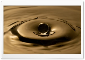 Sepia Water Drop HD Wide Wallpaper for Widescreen