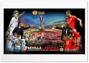 SEVILLA - BENFICA EUROPA LEAGUE FINAL 2014 HD Wide Wallpaper for Widescreen