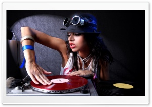 Sexy DJ Girl HD Wide Wallpaper for Widescreen