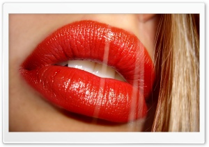 Sexy Red Lips HD Wide Wallpaper for Widescreen