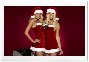 Sexy Santa HD Wide Wallpaper for Widescreen