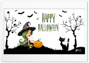 Sexy Witch on Halloween HD Wide Wallpaper for 4K UHD Widescreen desktop & smartphone