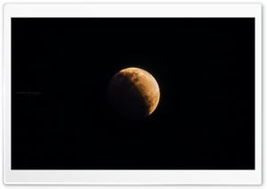 Shadow Of The Earth At Lunar Eclipse Ultra HD Wallpaper for 4K UHD Widescreen desktop, tablet & smartphone