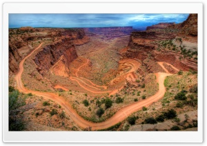 Shafer Trail - Canyonlands, Utah HD Wide Wallpaper for 4K UHD Widescreen desktop & smartphone