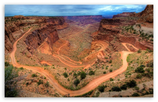 Shafer Trail - Canyonlands, Utah HD wallpaper for Wide 16:10 5:3 Widescreen WHXGA WQXGA WUXGA WXGA WGA ; HD 16:9 High Definition WQHD QWXGA 1080p 900p 720p QHD nHD ; UHD 16:9 WQHD QWXGA 1080p 900p 720p QHD nHD ; Standard 4:3 5:4 3:2 Fullscreen UXGA XGA SVGA QSXGA SXGA DVGA HVGA HQVGA devices ( Apple PowerBook G4 iPhone 4 3G 3GS iPod Touch ) ; Tablet 1:1 ; iPad 1/2/Mini ; Mobile 4:3 5:3 3:2 16:9 5:4 - UXGA XGA SVGA WGA DVGA HVGA HQVGA devices ( Apple PowerBook G4 iPhone 4 3G 3GS iPod Touch ) WQHD QWXGA 1080p 900p 720p QHD nHD QSXGA SXGA ;