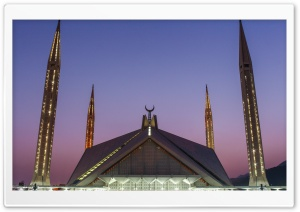 Shah Faisal Mosque Islamabad HD Wide Wallpaper for 4K UHD Widescreen desktop & smartphone