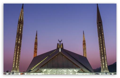 Shah Faisal Mosque Islamabad 4k Hd Desktop Wallpaper For