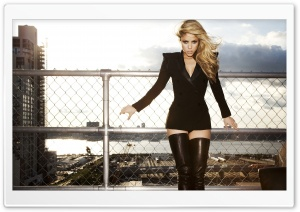 Shakira in Black HD Wide Wallpaper for Widescreen